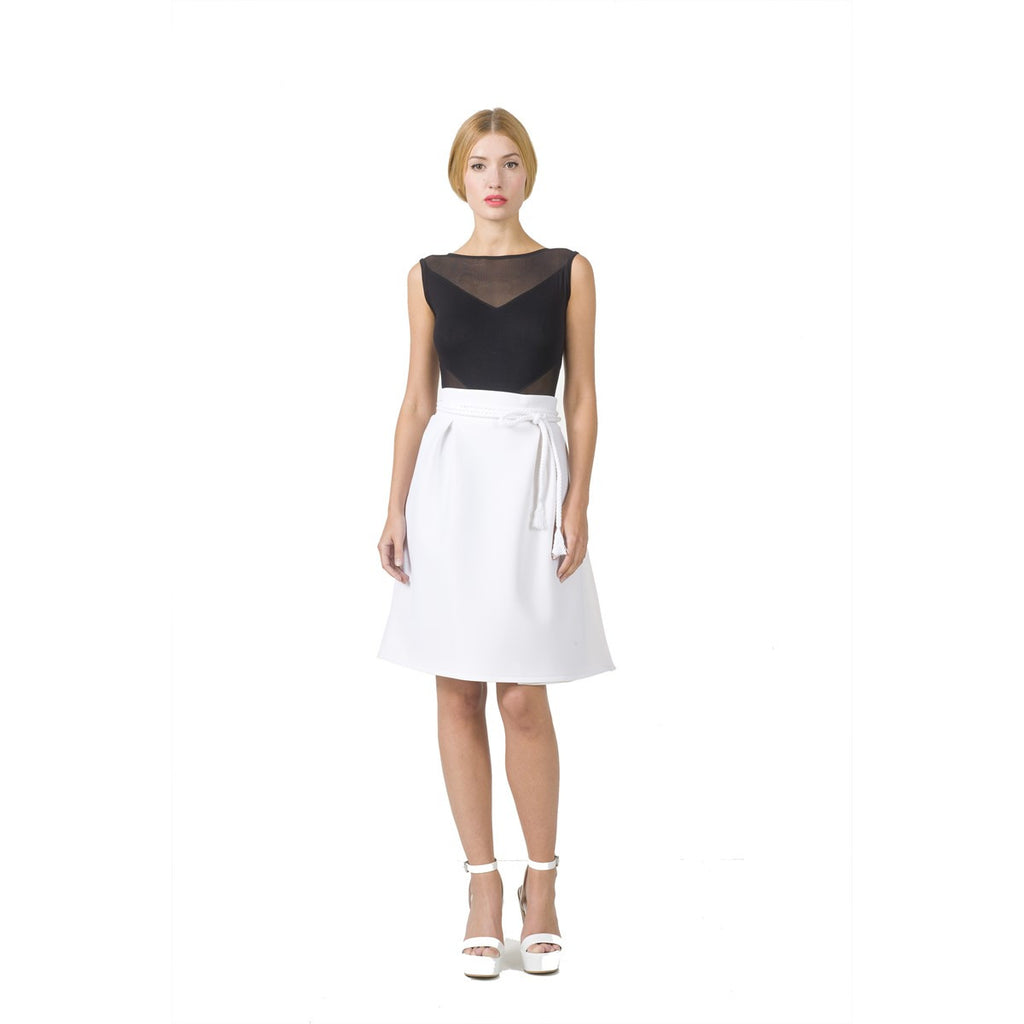 Trapeze White High Waist Skirt EON Paris - EON Paris