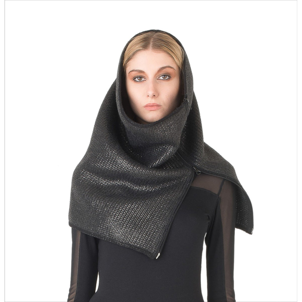 Snood in coated wool EON Paris - EON Paris