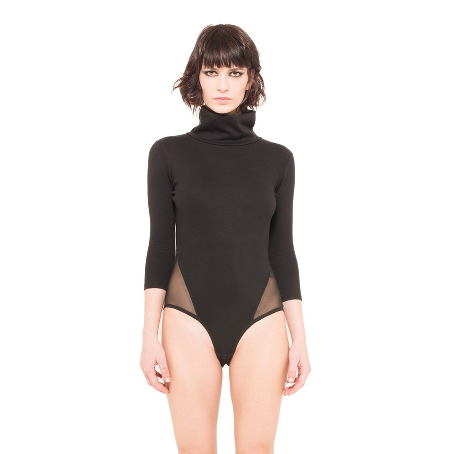 Turtleneck black bodysuit EON Paris - EON Paris