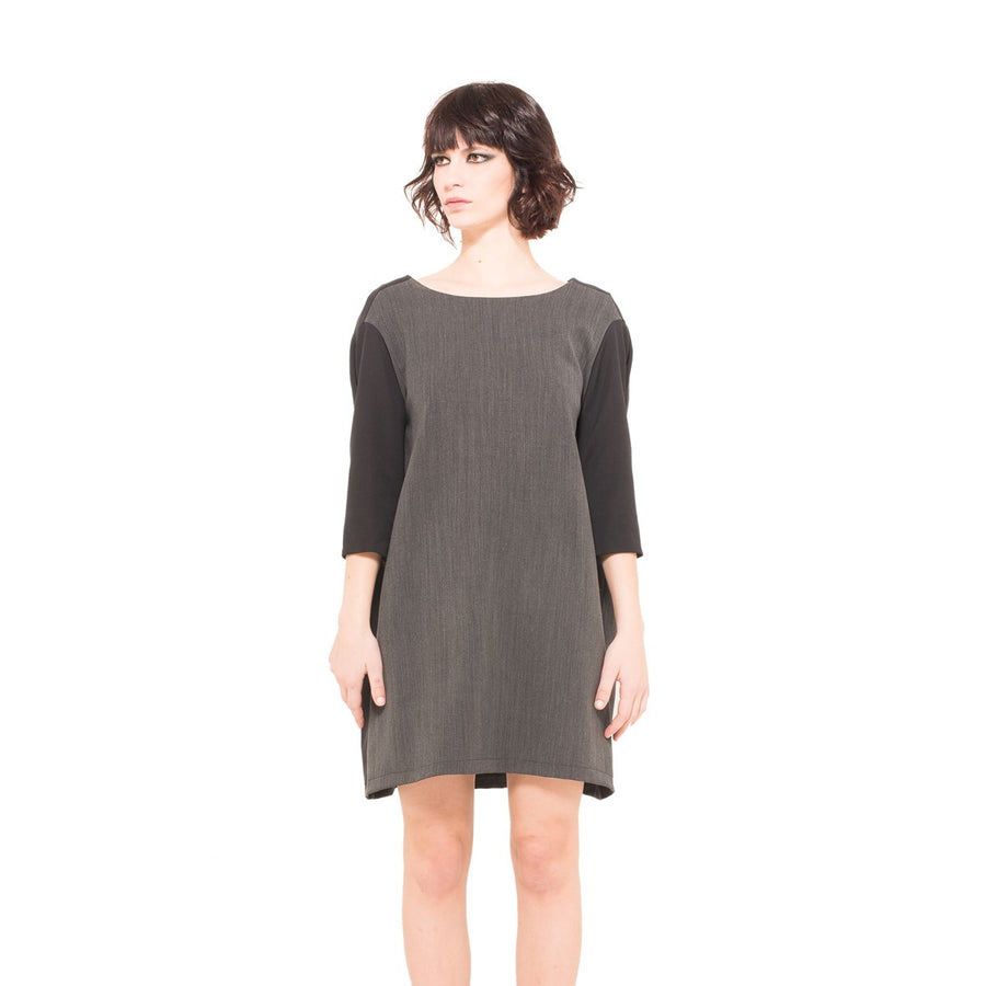 Short Casual Grey Dress EON Paris - EON Paris
