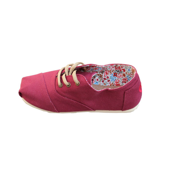 Men Women Dark Red Canvas Sneaker Espadrilles Espigas - espigas