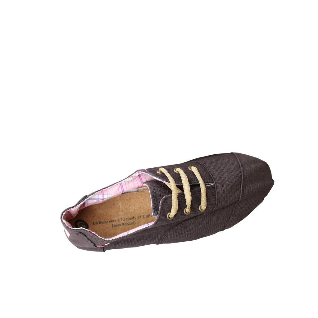 Men Women Brown Canvas Sneakers Espadrilles Espigas - espigas