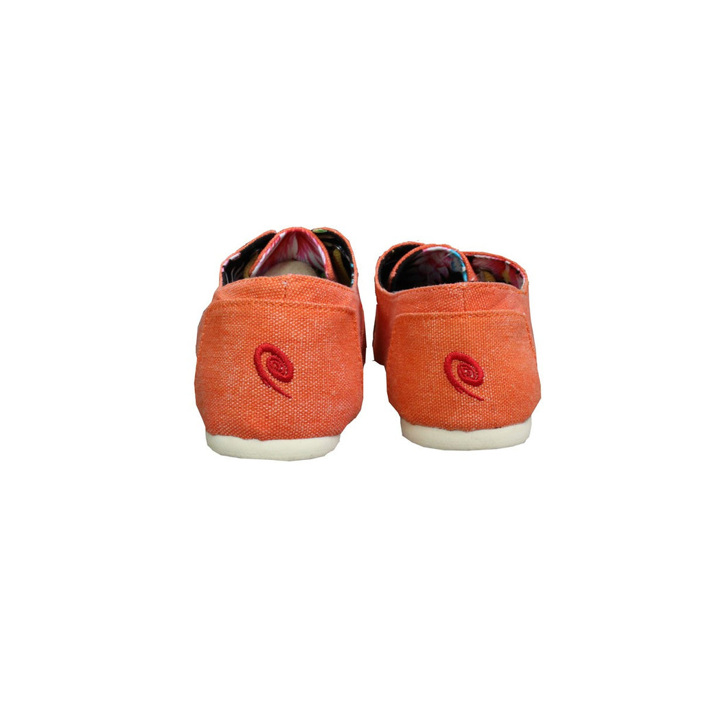 Men and Women Orange Canvas sneakers Espadrilles Espigas - espigas