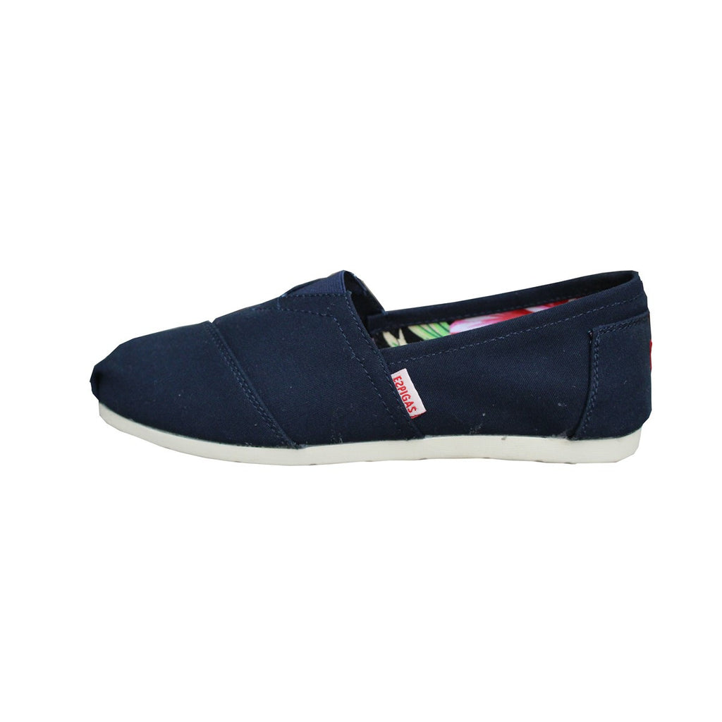 Men and Women Navy Canvas Espadrilles Espigas - espigas