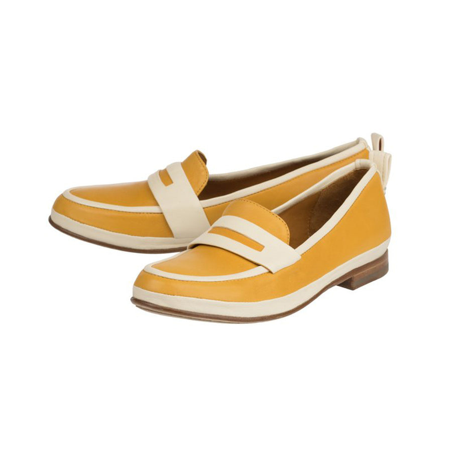 Women Yellow leather loafers Olivier Jour Ferie Paris - Jour Ferie Paris