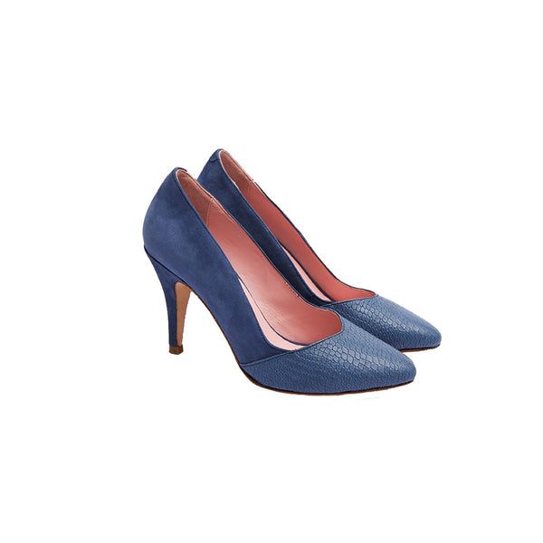 Blue Coco stiletto pumps Coralie Masson