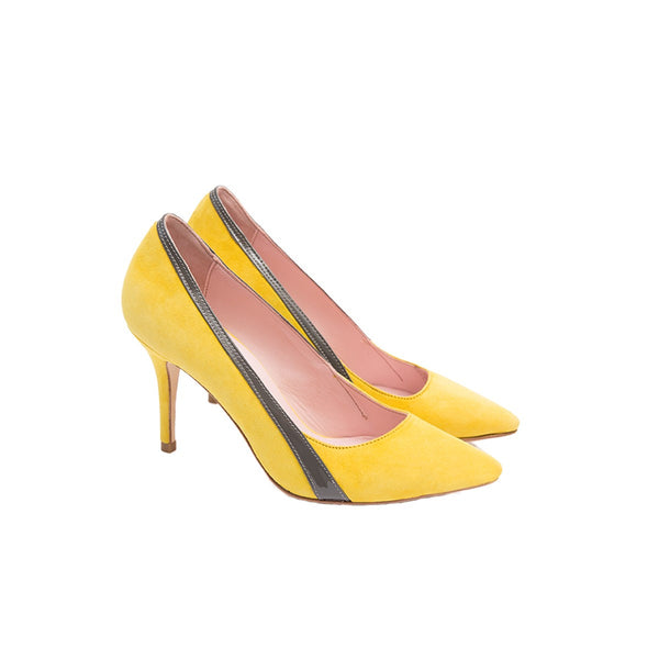 Gigi yellow stilettos pumps Coralie Masson