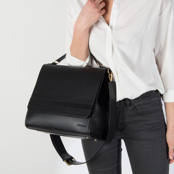 We Are Not Lady Medium black shoulder bag