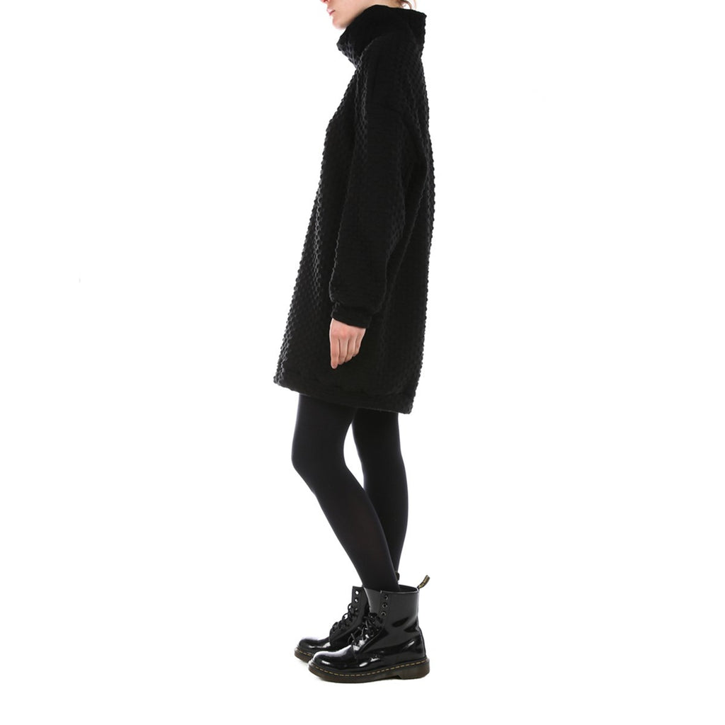 Women Black Oversized Sweater Dress Edouard Lecouturier - EDOUARD LECOUTURIER
