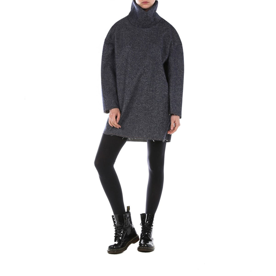 Oversized Grey Sweater Dress Edouard Lecouturier - EDOUARD LECOUTURIER