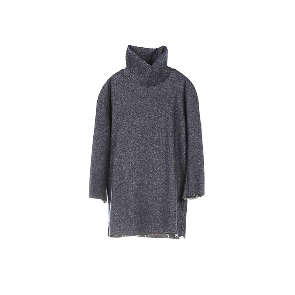 Oversized Grey Sweater Dress Edouard Lecouturier