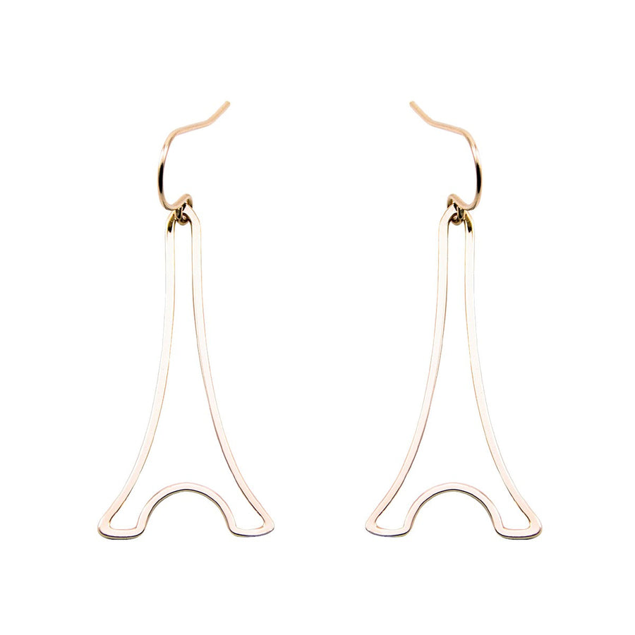 Earrings Paris Eiffel Tower XS Gold - Mademoiselle Felee