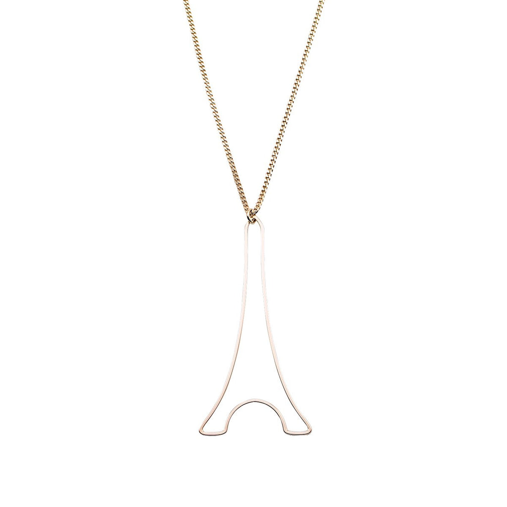 Necklace Paris Eiffel Tower XL Gold - Mademoiselle Felee