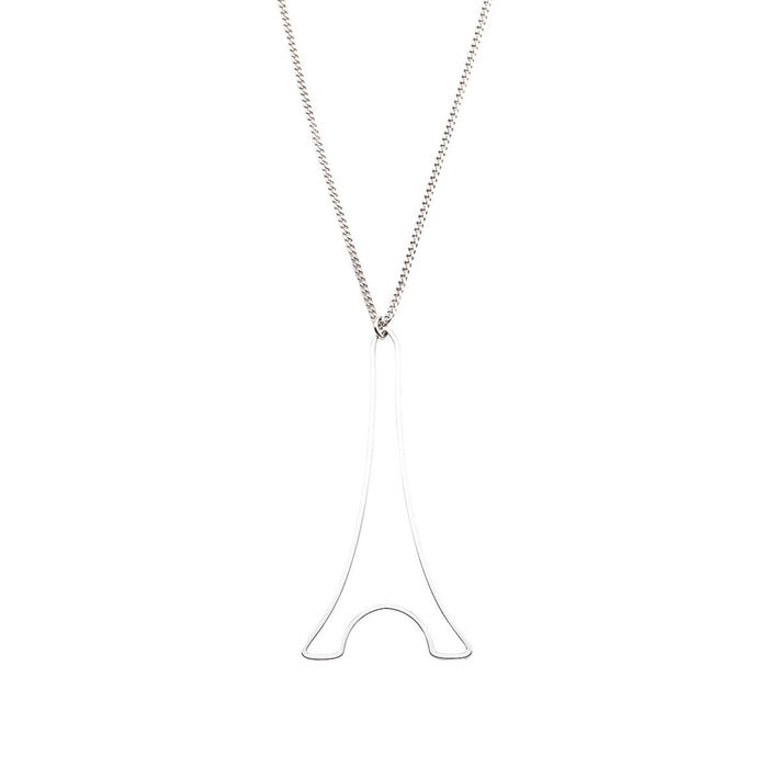 Necklace Paris Eiffel Tower XL Silver - Mademoiselle Felee