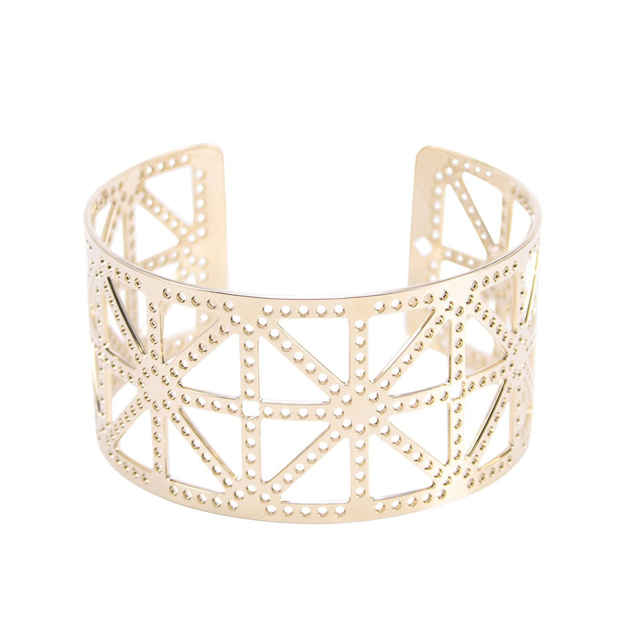Paris Tour Eiffel Tower's cross Cuff XS Gold - Mademoiselle Felee