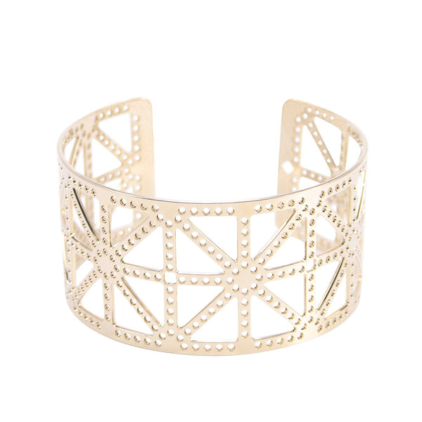 Paris Tour Eiffel Tower's cross Cuff XS Gold