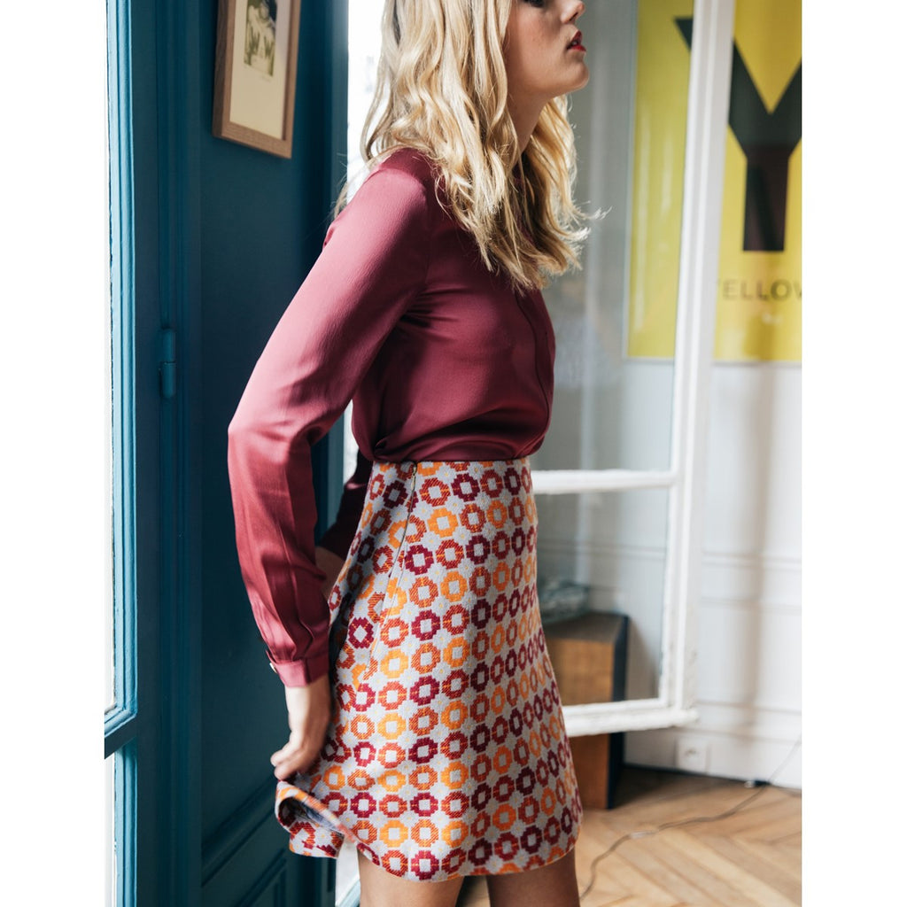 Women silk shirt Gabrielle Burgundy - Sunday Life