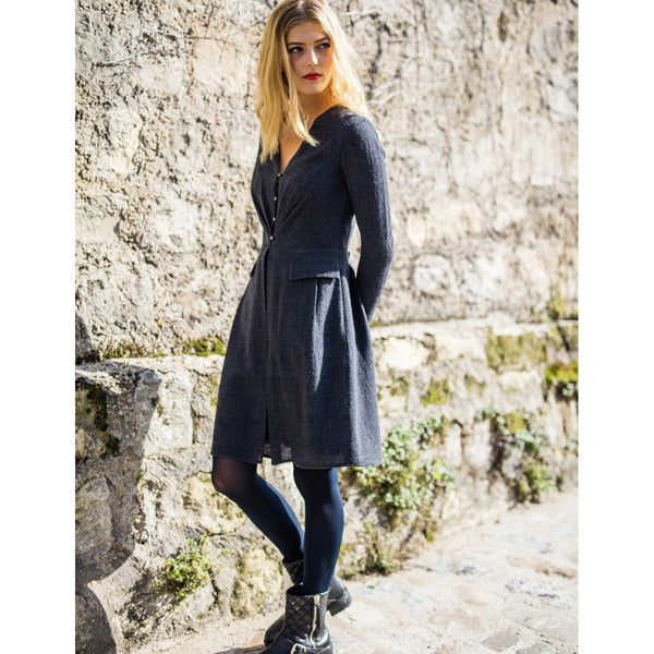 Pure Wool Grey Dress Diane Sunday Life