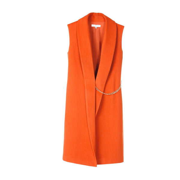 Sleeveless coat Agathe Orange - Sunday Life