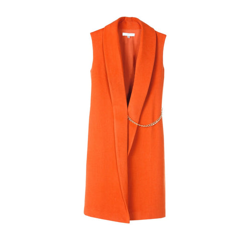 Sleeveless coat Agathe Orange