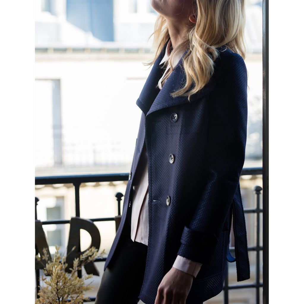 Short trench Navy Blue Charlene - Sunday Life