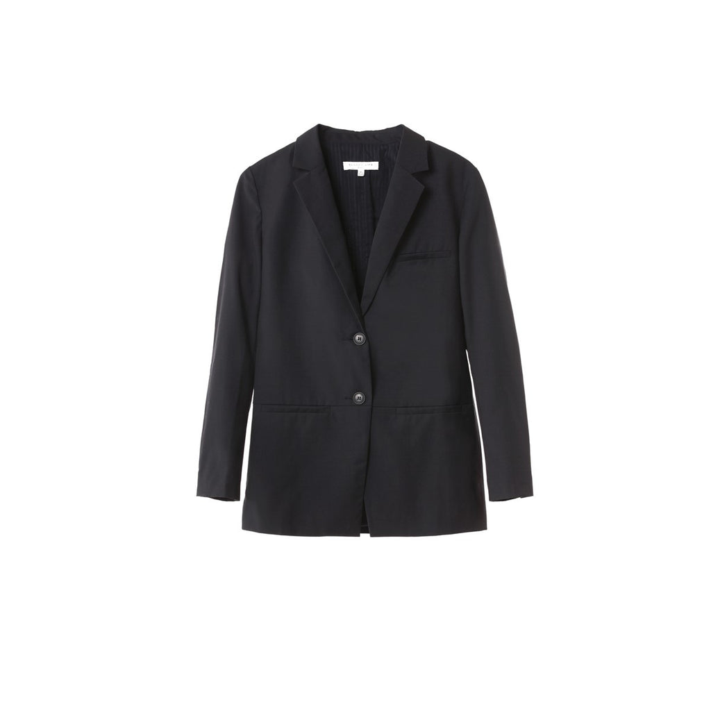Women Minimalist Navy Tailor Jacket Clarisse - Sunday Life