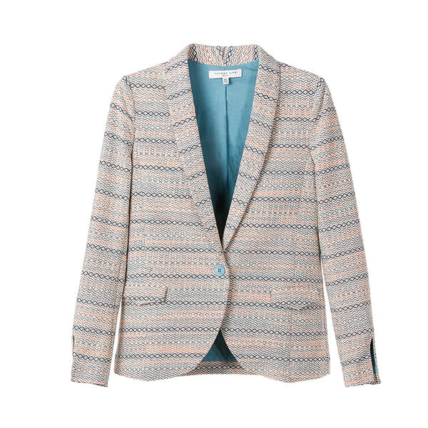 Stripe Cotton jacket Elodie Beige - Sunday Life