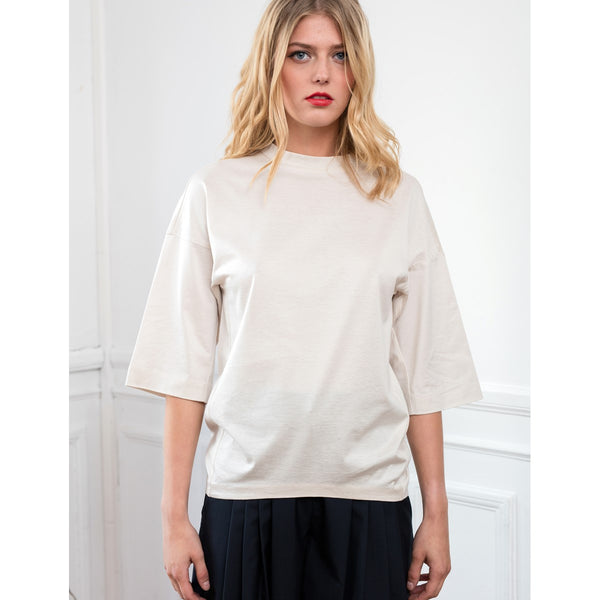 Cotton and modal top Lauriane White - Sunday Life