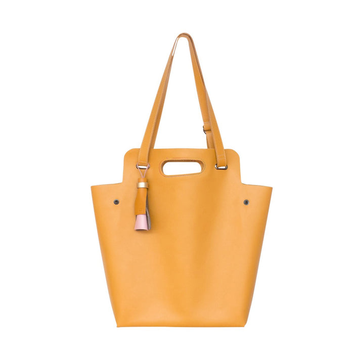 Kaba Tote Yellow Leather Bag Ffil - FFIL