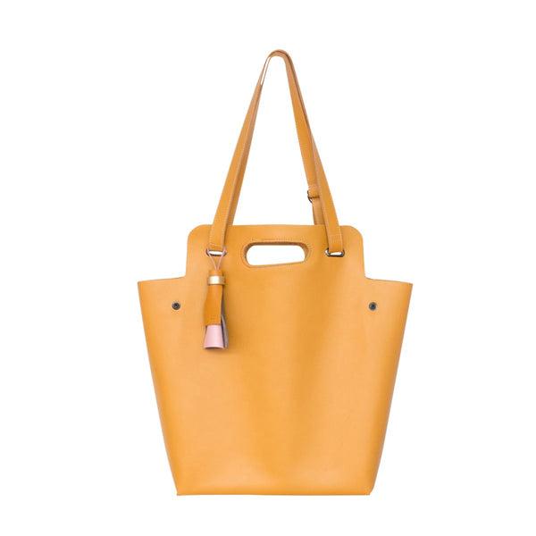 Kaba Leather Bag Yellow - FFIL