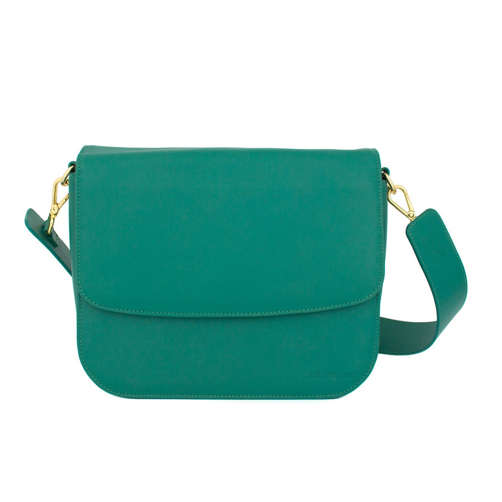 We Are Not Shoulder Handbag Box Medium Emerald