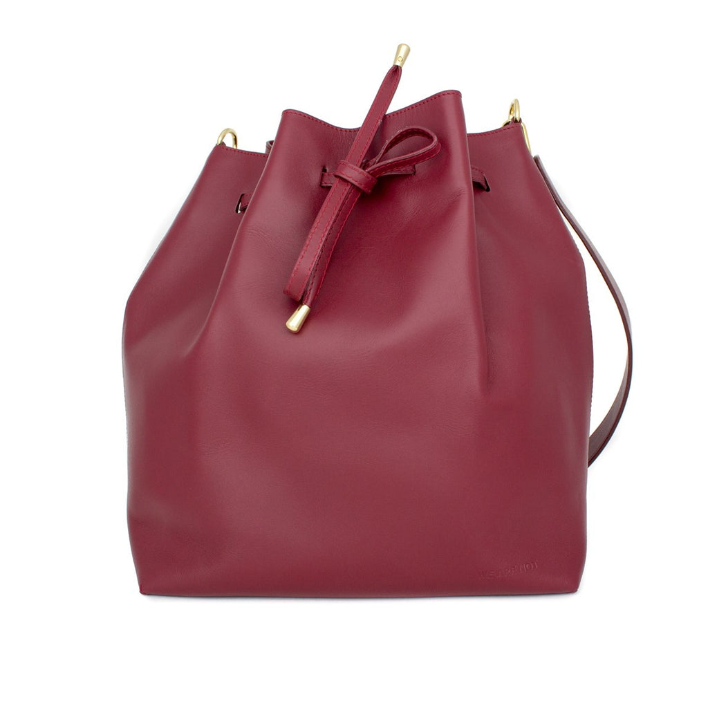 We Are Not Burgundy Bucket Bag Medium - WE ARE NOT