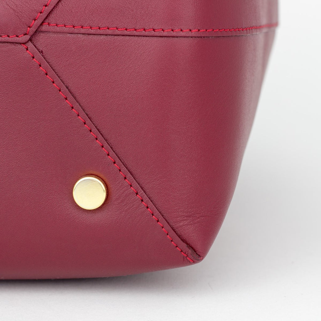 We Are Not Burgundy Bucket Bag Medium