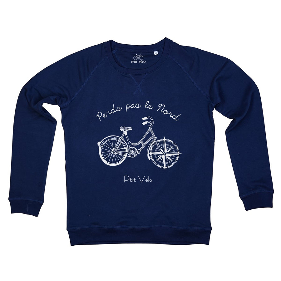 Men Navy Sweatshirt in Organic Cotton Nord - Ptit Velo