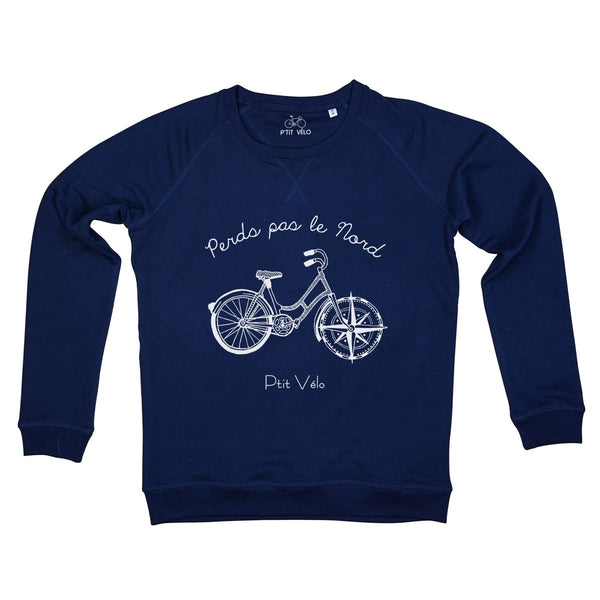 Women Navy Sweatshirt in Organic Cotton Nord