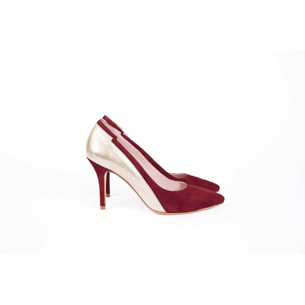 Monik Red Pumps Gold Band Coralie Masson