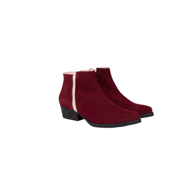 Joe Red Low Boots Coralie Masson