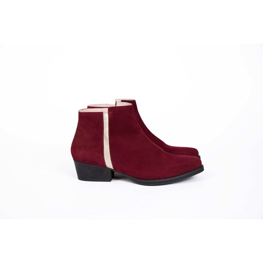Joe Red Low Boots Coralie Masson - Coralie Masson
