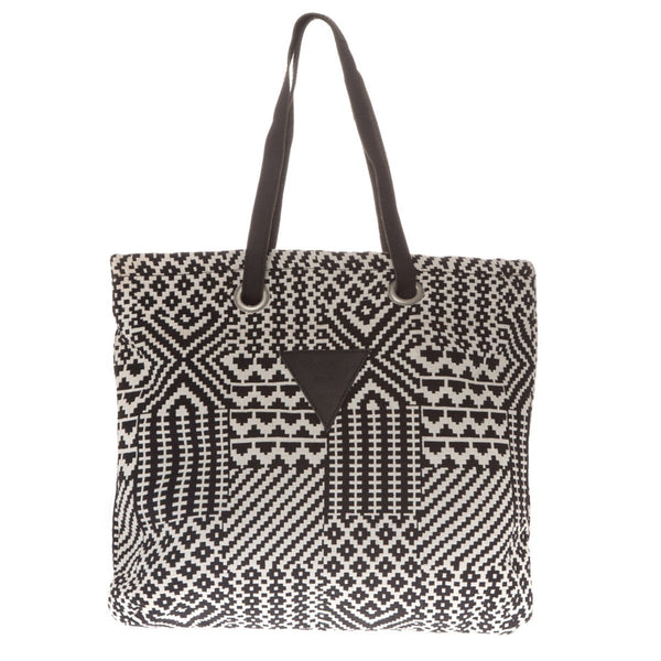 Canvas tote bag Fire Black White Folklo by Ka - Folklo by Ka