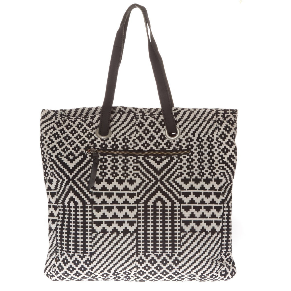Canvas tote bag Fire Black White Folklo by Ka