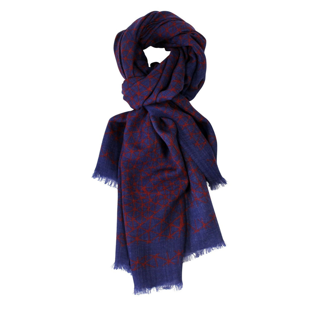 Hypnotic Dark Blue Scarf - Le Secret des Eléphants