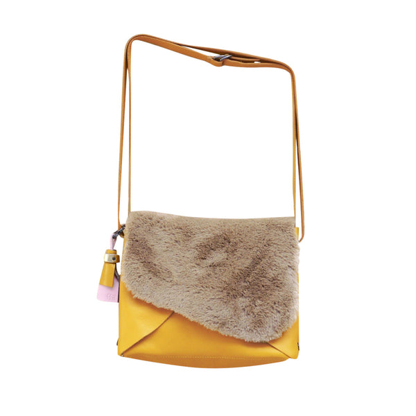 Envelope Yellow Bag Medium with Fur Closure Ffil - FFIL