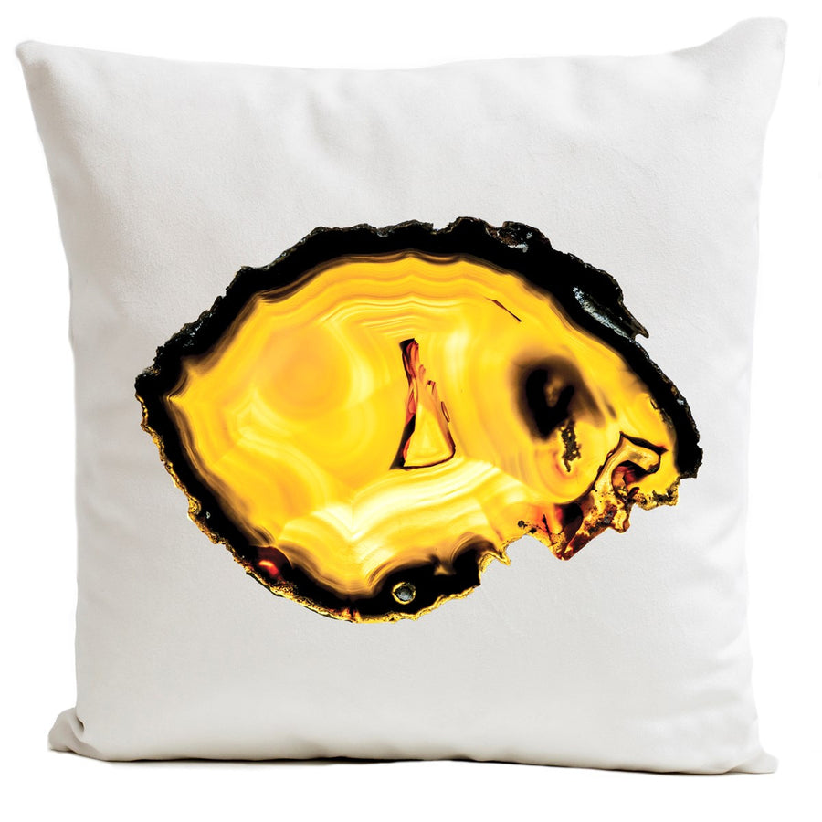 Artpilo Cushion Cover White Velvet - Yellow Agate - Artpilo
