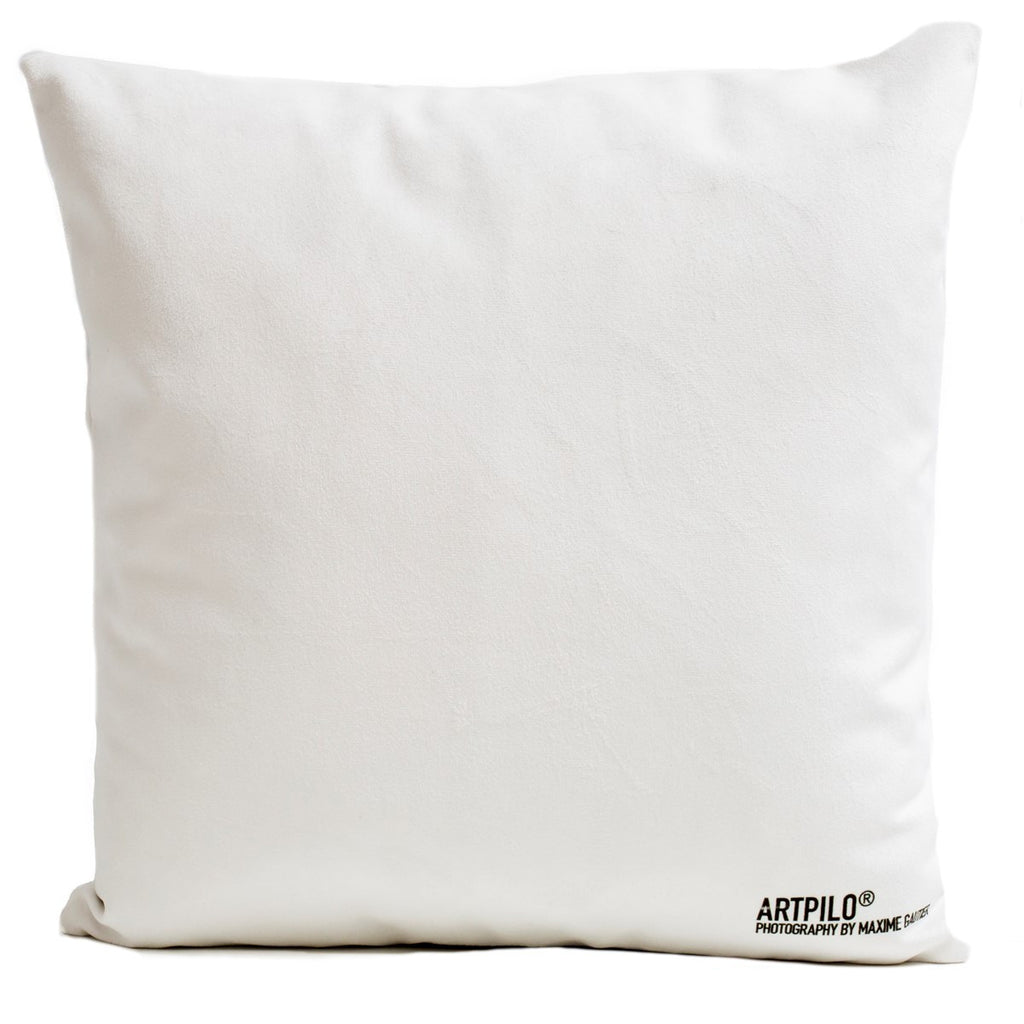 Artpilo Cushion Cover White Velvet - Yellow Agate