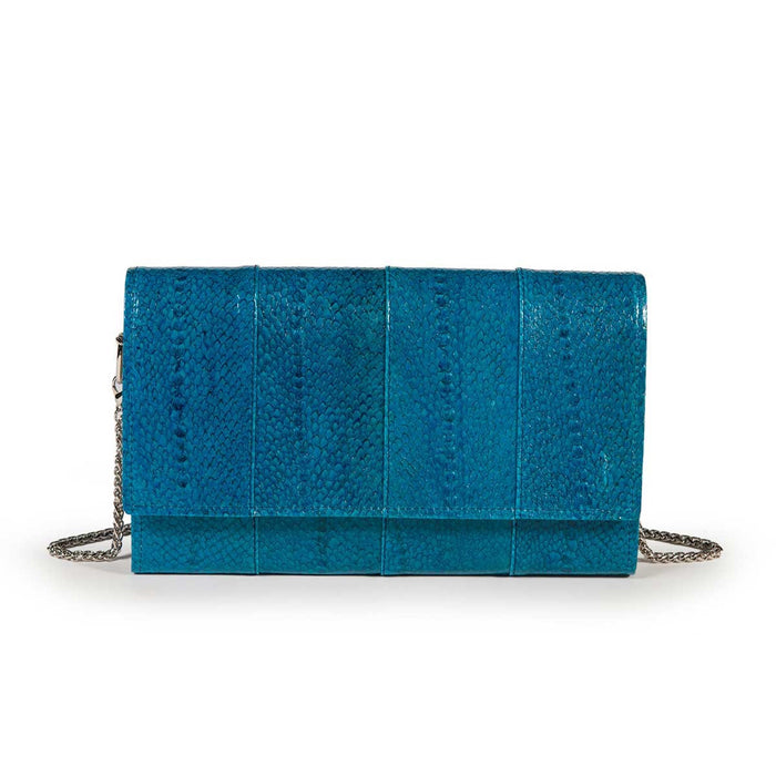 Elegant Turqoise Trout Leather Pouch Banka