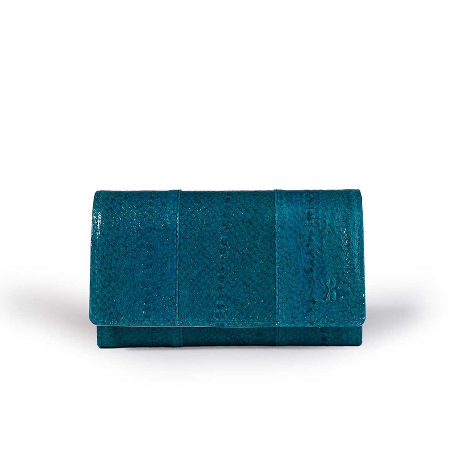 Chic Turqoise Trout Leather Wallet Banka