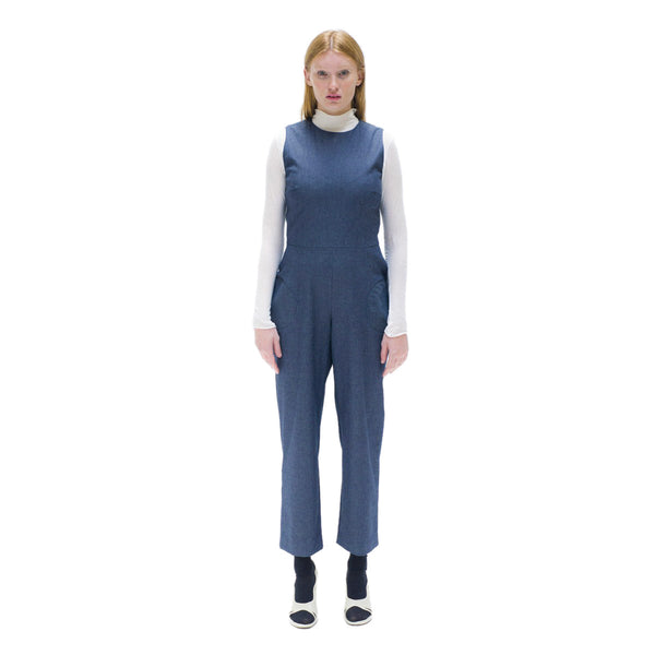 Women Sleeveless denim jumpsuit The Woods Made In Paris