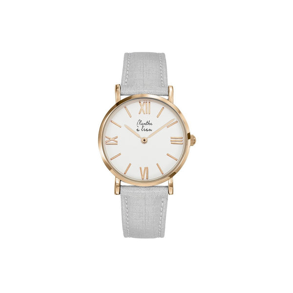 Women Designer Watches White Leather Bracelet Menthe A l'Eau