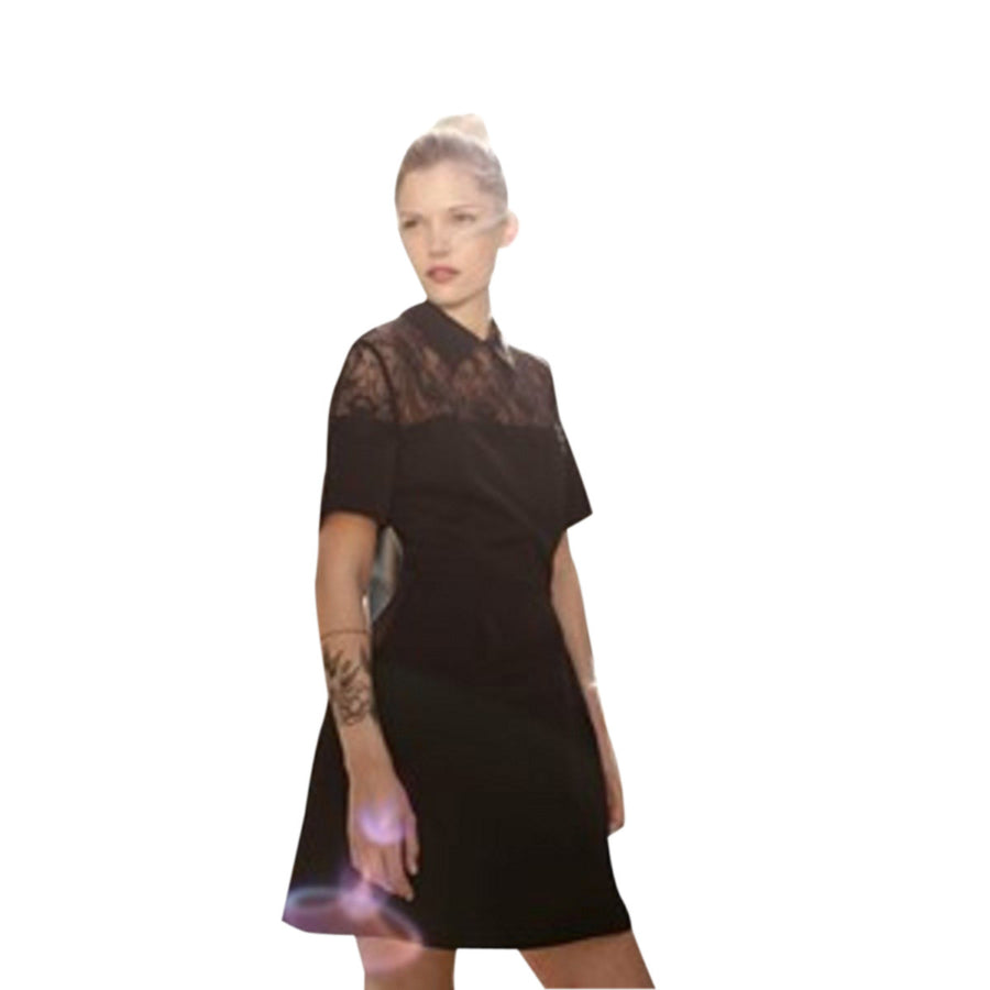 Black Dress With Lace Detailing by Laura Laval Paris