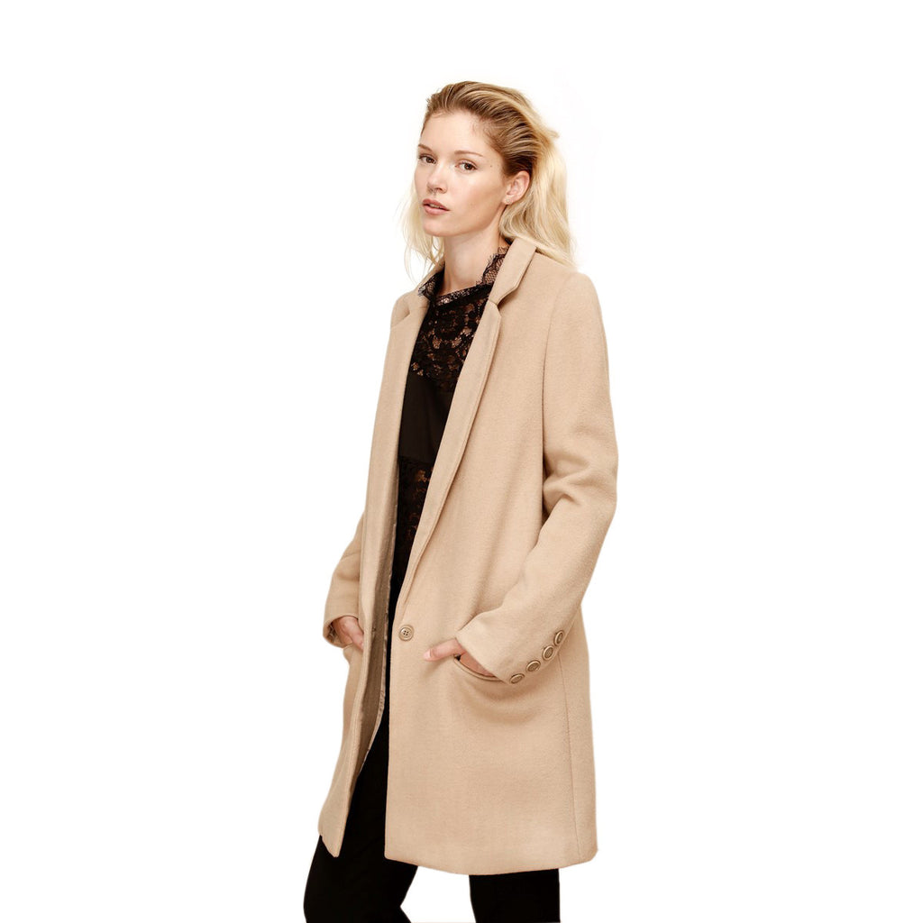 Straight Tailored Coat Camel